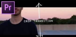 Adobe Premiere Pro CC Tutorial: Crop Opening Transition Effect How to (Black bars open close)