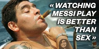 "20 LEGENDARY Diego Maradona quotes - ""Watching Messi play is better than s*x"" 