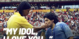 Ronaldinho's final tribute to Diego Maradona is incredibly moving | Oh My Goal