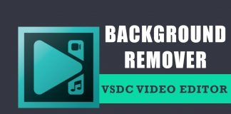 How to use the background remover option in VSDC Free Video Editor?