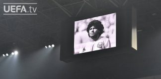 #UCL pays tribute to DIEGO MARADONA with minute of silence