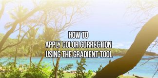 How to apply color correction using the Gradient tool with VSDC Free Video Editor